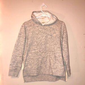 Madewell Pullover Hooded Sweatshirt (Light Gray)